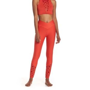 BEACH RIOT beach leggings red hearts NWT size XS